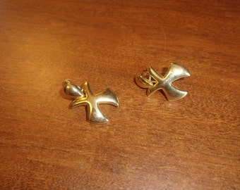 vintage screw back earrings goldtone