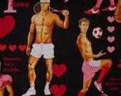 Valentine  Hunks Fabric / Alexander Henry Game of Love in Black