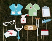 NURSES photo booth props. End of year sale!