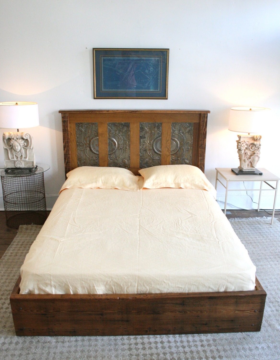 Queen Platform Bed Made From Reclaimed New Orleans Homes And