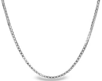18 Inch White Gold Box Chain