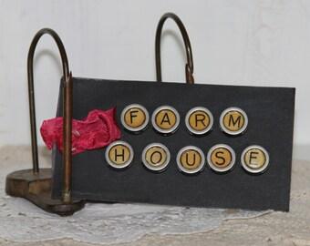 FARM HOUSE or Farm Fresh ...Faux typewriter key magnets
