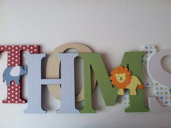 hanging wooden letters items similar to nursery wooden wall letters circus themed 22080 | il 570xN.489101085 hxry