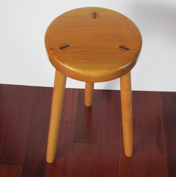 Items Similar To Solid Wood Stool Three Legged Stool Made