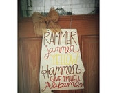 University of Alabama door hanger- Rammer Jammer