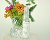 Gardens, Travel-Sized Organic Fragrance Body Spray,  Natural Perfume Mist, with Rose Geranium and Bay .10 mL