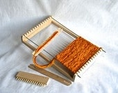 smal Natural Weaving Loom Kit for Children - wooden loom children chraft