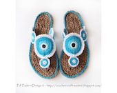 Yo-Yo Sandals - 2in1- Crochet Pattern and Cord Soles - Package- Instant Download