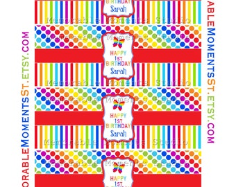 PRINTABLE BUBBLE LABELS Rainbow Butterfly Party Collection - Memorable Moments Studio