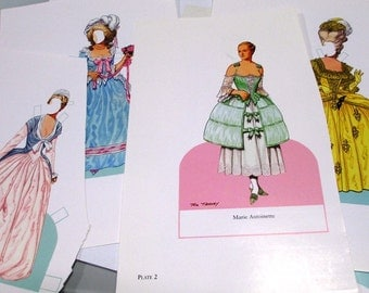 Marie Antionette Paper doll scraps