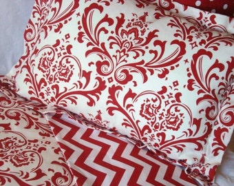 Dorm Bedding College Bedding Duvet Cover with Sham Twin/Full/Queen/King Damask and Chevron