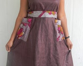 Beautiful Brocade Dress with Patch work