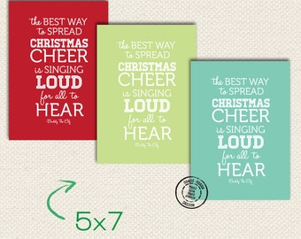 5x7 Buddy The Elf Christmas Cheer Quote Print