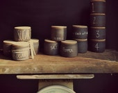 made to order* handmade stoneware salt and pepper customizable cellar under 30 - nelledesign