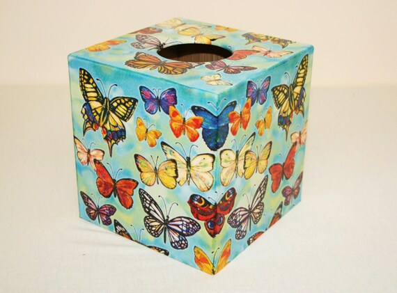 Butterfly Design Tissue Box Cover