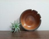Edith Heath Ceramics of California Brown and Orange Ceramic Ashtray