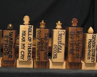 The Literary Chess Set by Jim Arnold Chess for Gholdy