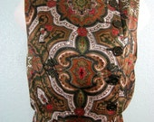 Vintage 60s Paisley Silk Blouson Dress