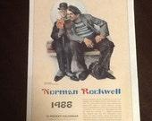 Vintage Calendar Norman Rockwell 1988 Calendar
