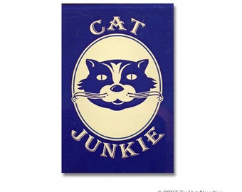 Cat Junkie Fridge Magnet