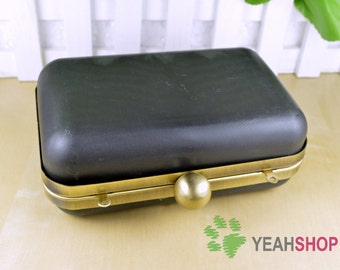 Rectangle Dressing Case Purse Frame - Round Ball Opening - 13.5cm x 9cm (PDC1)