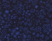 Half Yard Hello Petal Doodle in Darling Navy Blue, Aneela Hoey, Moda Fabrics, 100% Cotton Fabric, 18565 25