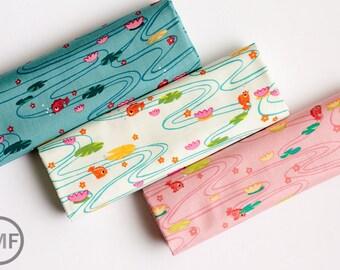 Fat Quarter Bundle Kingyo, 3 Pieces, De Leon Design Group, Alexander Henry Fabrics, 100% Cotton Fabric, 7778