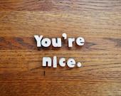 You're Nice - Vintage Ceramic Push Pins