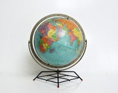 Mid-Century Replogle 12 Inch Dual Axis Reference Globe