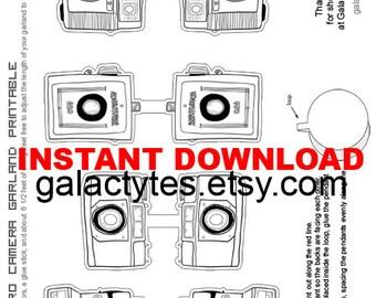 New// DIY Retro Camera Garland Printable