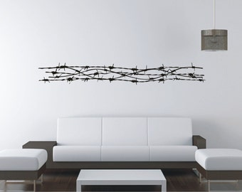 Barbed wire LARGE Vinyl Decal, Wall Sticker, Wall Tattoo