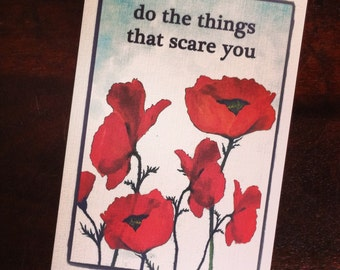 Card Set- Red Poppy Healing Cards (Set of 6)