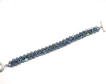 Bracelet of Blue Crystals Light Sapphire Swarovski Crystal Bracelet