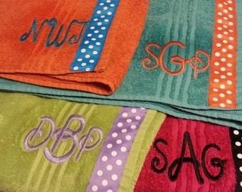 7 Towel Wraps, Christmas Gift, Adult Towel Wrap, Embroidered Towel Wrap, Personalized Towel Wrap