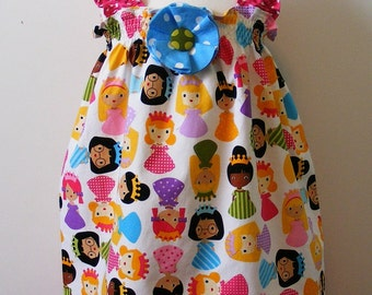 Girlfriends and tiaras  Shirred Dress (12 mos, 18 mos, 24 mos, 2T, 3T, 4T, 5, 6)