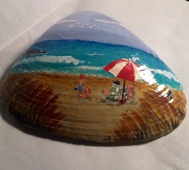 At The Shore Painted Seashell