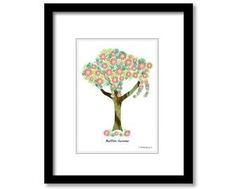 "Summer Buffalo Tree - 8""x10"" White Matt"