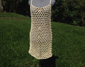 Crochet beach cover up tunic