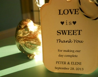 Love is sweet Wedding Favor wedding Tags Place Cards Thank You Tags Shower Tags Love Is Sweet Honey Jar Labels Tree Wishes tags
