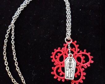 Deadly Handmade Lace Pendant