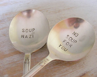 Soup Nazi Spoon Set No Soup For You Soup Spoon Set