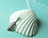 Oxidized Diamond Leaf Necklace, Diamond Leaf Jewelry, Fall Leaf Jewelry, Fall Weddings, Matron of Honor Gifts