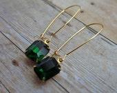 Vintage Earrings Emerald Green Earrings Vintage Style Jewelry Bridesmaid Gift Wedding Jewelry