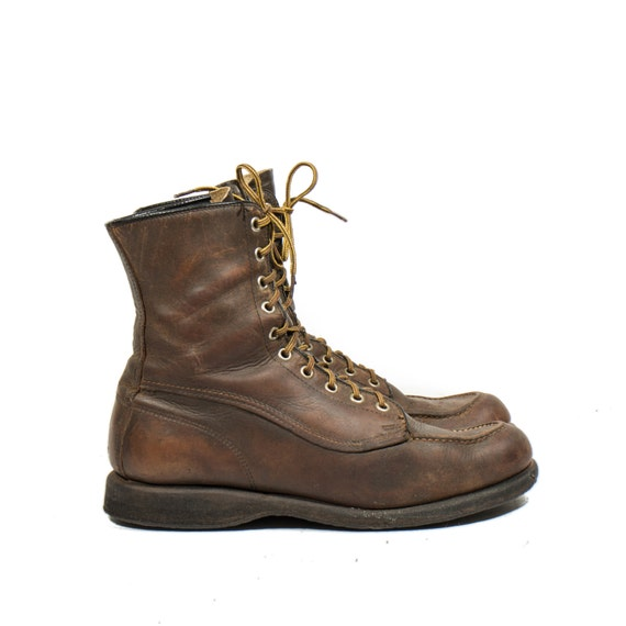 Mens Brown Leather Work Boots - Boot Hto