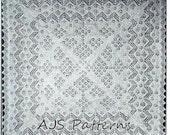 PDF Knitting Pattern for a Beautiful Cobweb Fine 1 Ply Shetland Baby Shawl - Instant Download