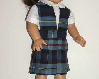 Split/Vneck Doll School Jumper Plaid 41