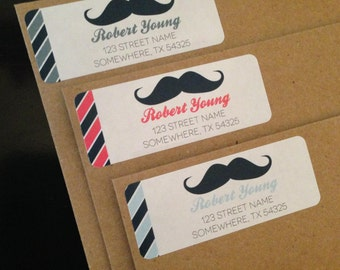 Mustache Return Address Labels