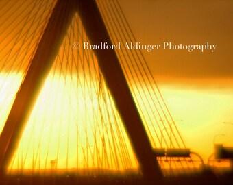 Zakim Bridge feeling the City Heat - Photograph