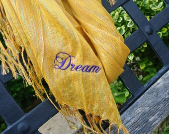 Personalized Scarf, Inspirational Scarf