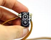 Rolleiflex Camera miniature necklace